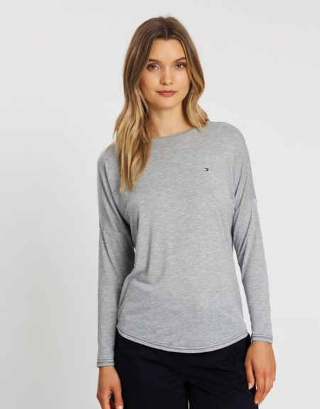 TH Rebecca C-Neck Top Grey