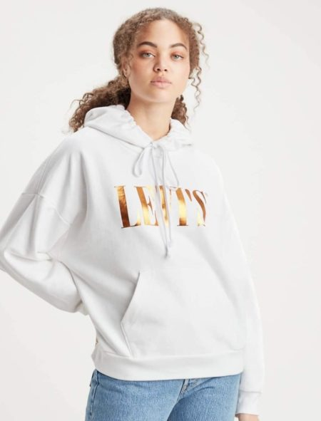 Levi's Hoodie White/Rose Gold
