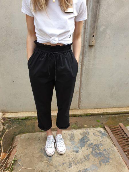 Paper Bag Pants Black