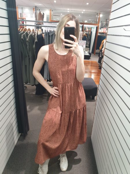 Alethea Dress Rust