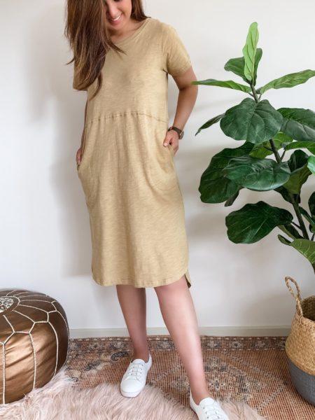 Relaxed Tee Dress Mustard