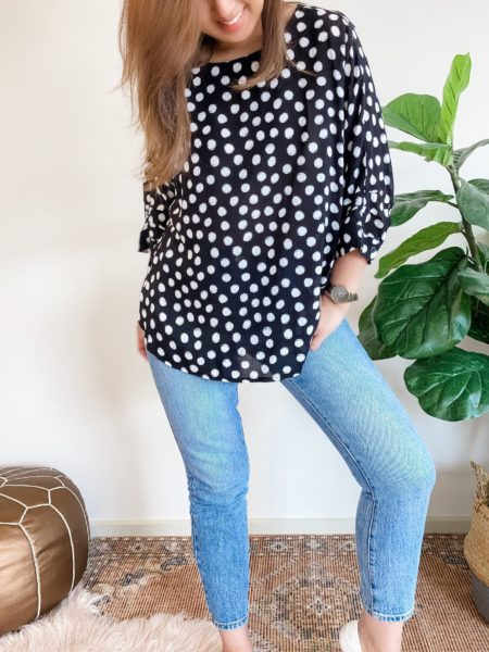 Batwing Top Dotty