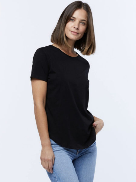 Casa Amuk Saddle Hem Tee Black