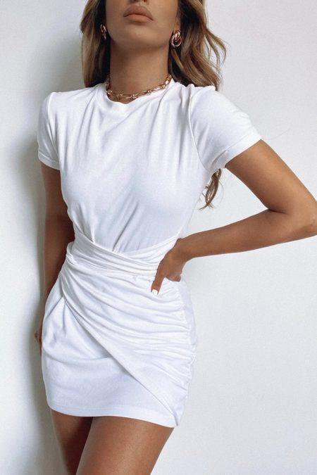 Winnie Shirt Dress White